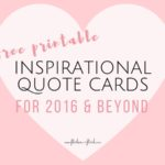 FREE inspirational quote cards
