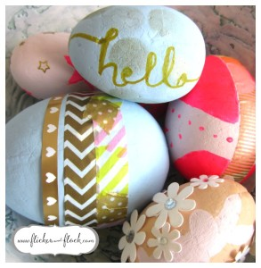Decorative easter eggs you can make yourself