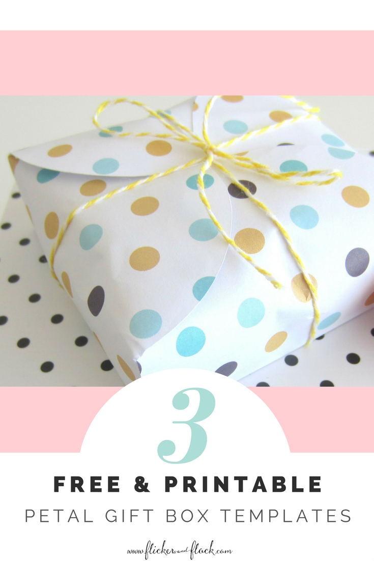 FREE printable petal gift box templates + gifting idea.
