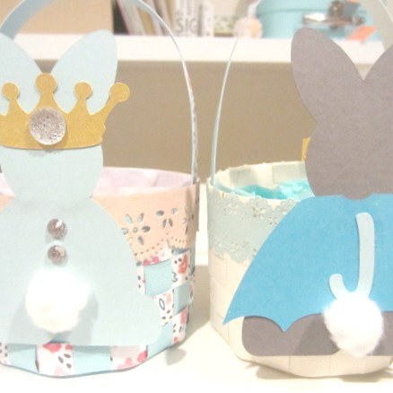 Beautiful Easter egg baskets in theme!