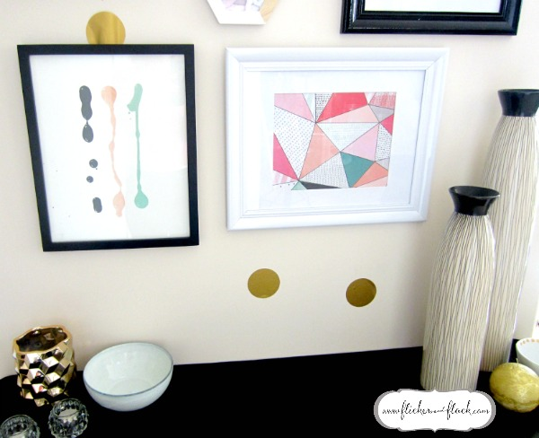 Gallery wall artwork + hallway console table