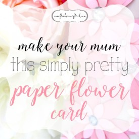 DIY paper flower card [+ FREEBIE template]