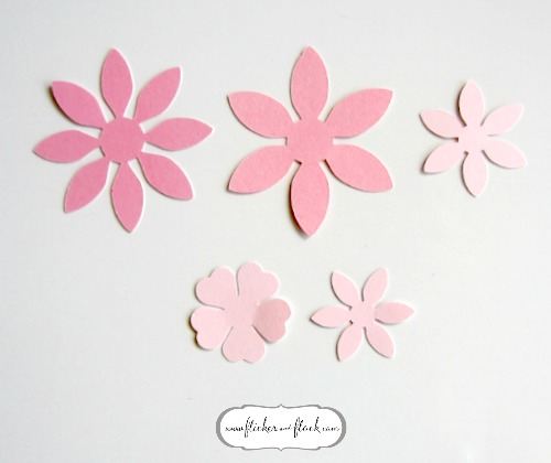 diy paper flower card freebie template flicker flock
