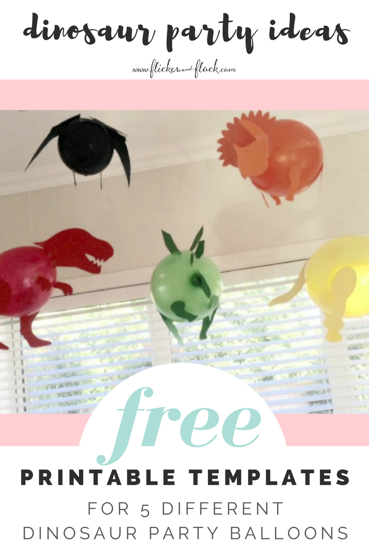 photograph about Balloon Templates Printable known as Do it yourself Dinosaur Celebration Balloons [with FREEBIE templates