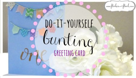 DIY bunting greeting card