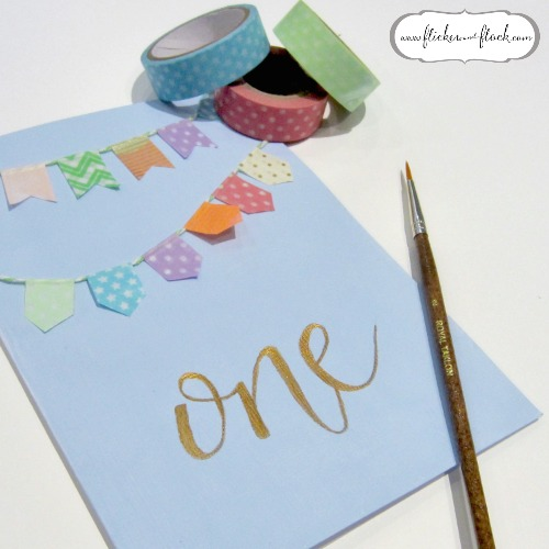 DIY bunting card - so easy + pretty!
