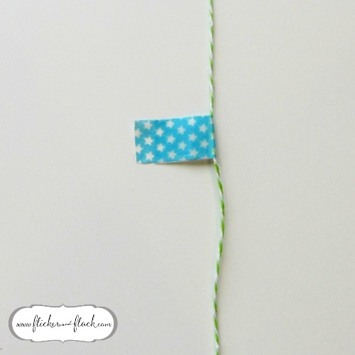 DIY bunting card - step 4, making the flags