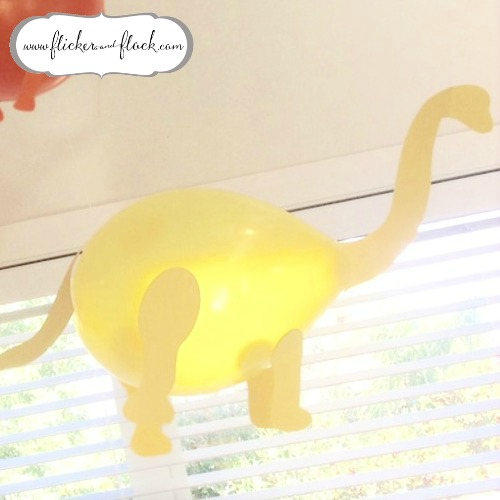 Diy Dinosaur Party Balloons With Freebie Templates