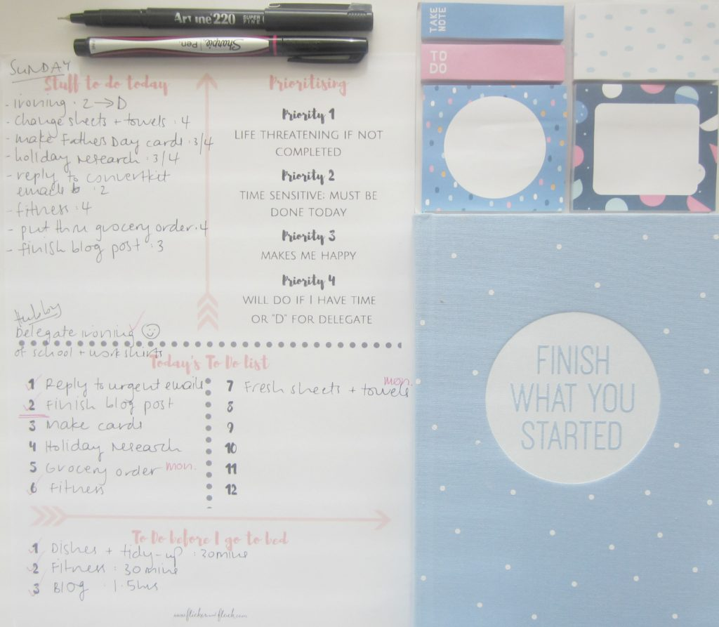 How to create the Ultimate To Do list in order to maximise your day. Free printable daily planner + checklist to help you prioritise!