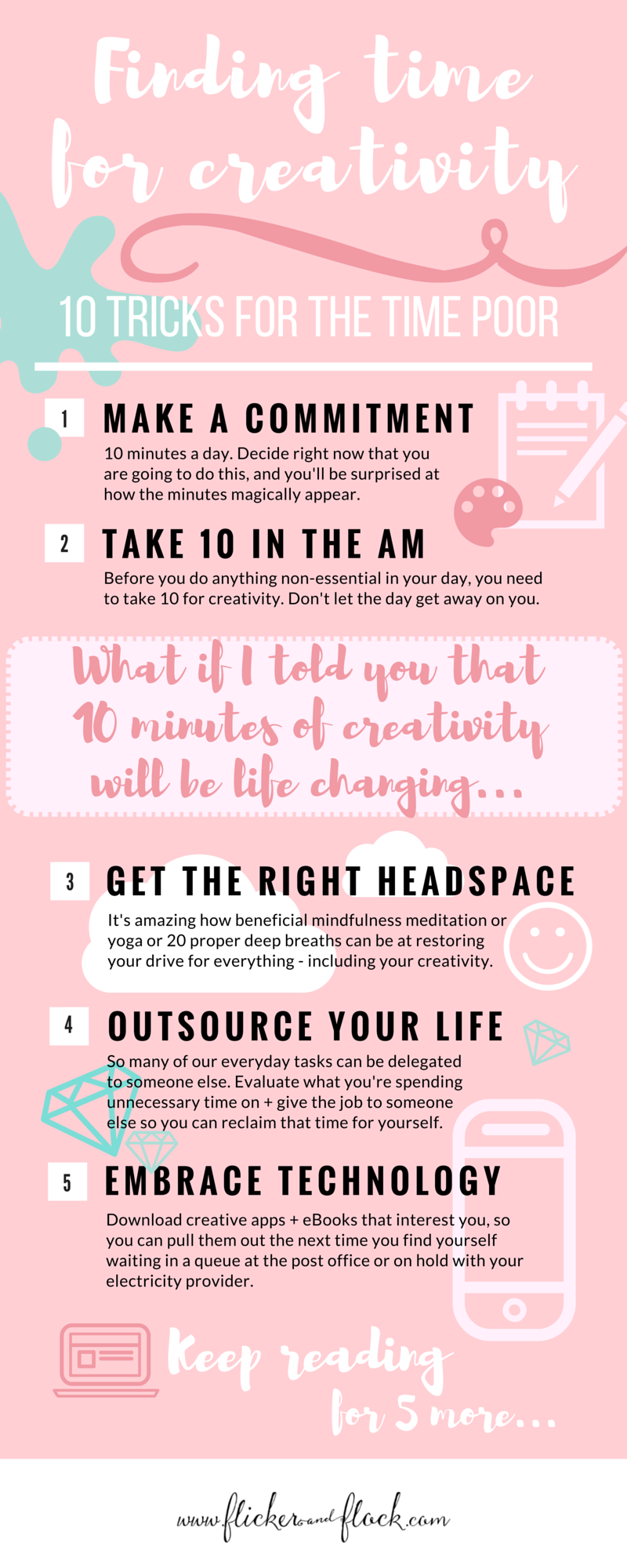 Finding time to be creative 10 tricks for time poor mums flicker finding time for creativityinfographic solutioingenieria Choice Image