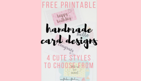 Why the World Would End Without Handmade Cards  + 4 freebie card designs